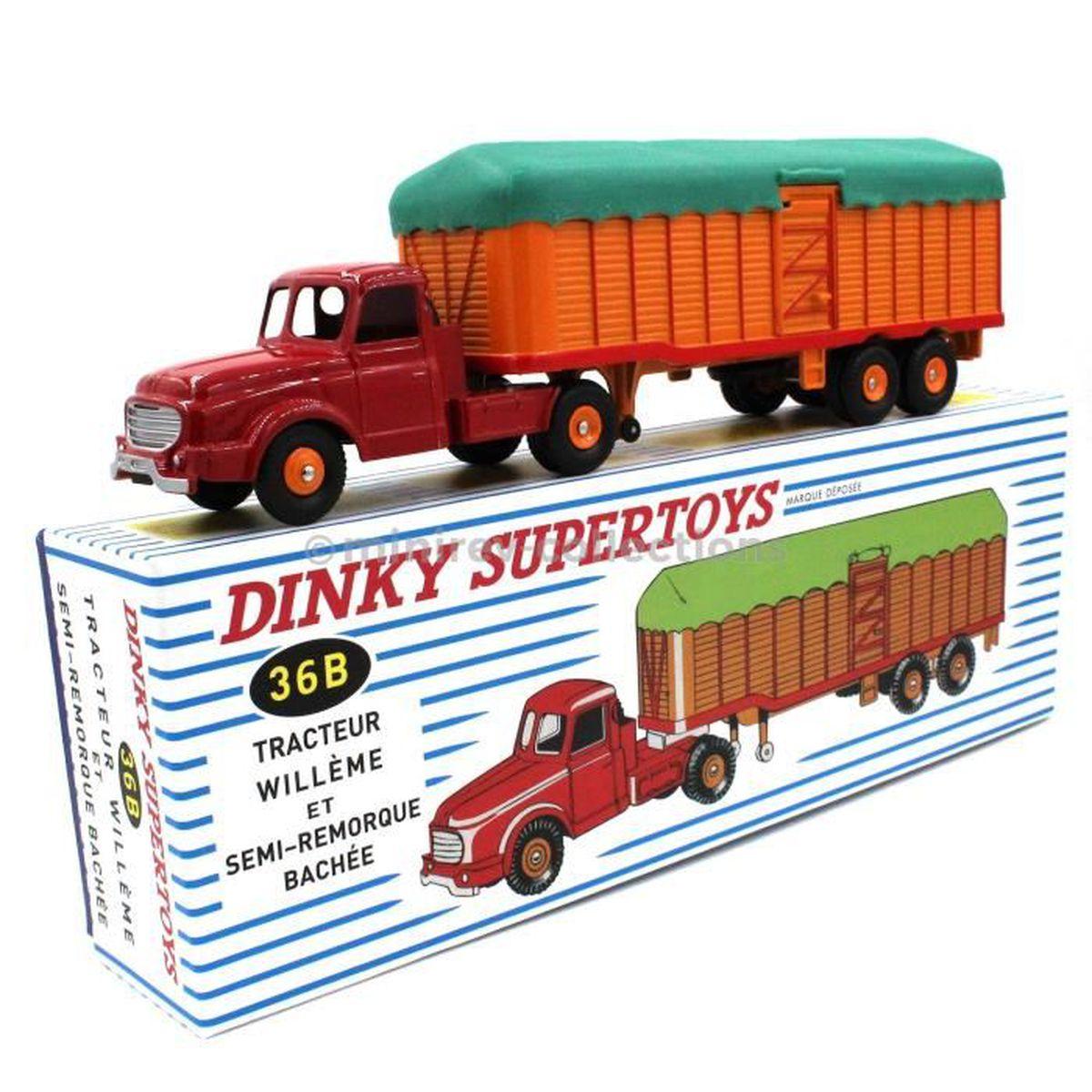 atlas dinky toys 36b tracteur willeme et semi remorque b ch avec certificat rouge achat. Black Bedroom Furniture Sets. Home Design Ideas