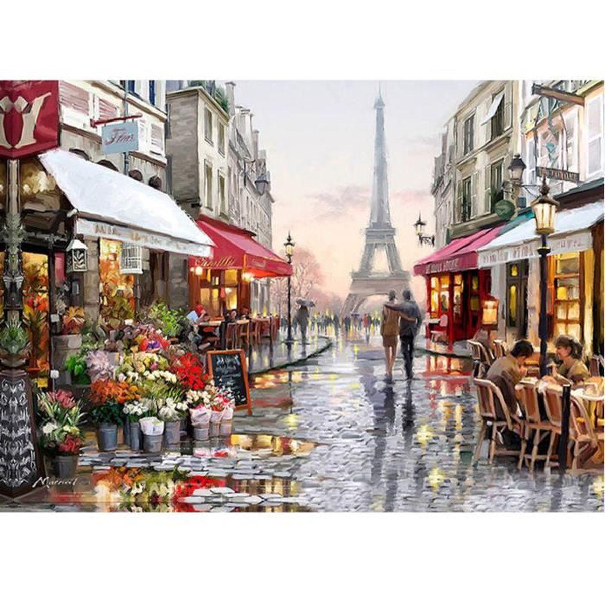 TABLEAU - TOILE PARIS 2 - 40*30 cm - Broderie canevas diamant mosa