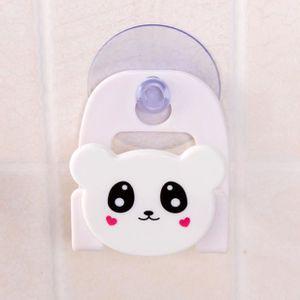 SERVITEUR WC Tissu Carton Plat Porte-éponge avec Ventouse Home