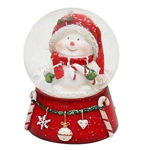 PERSONNAGES ET ANIMAUX Belle petite boule à neige avec Bonhomme de neige