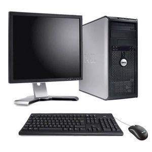 ordinateur de bureau complet dell achat vente pas cher. Black Bedroom Furniture Sets. Home Design Ideas