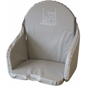 CHAISE HAUTE  LOOPING Coussin Chaise Haute Gris Perle