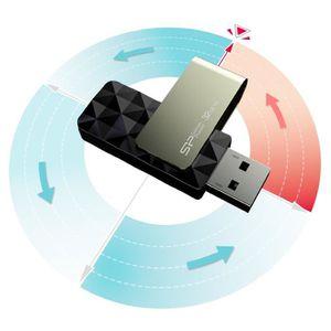 CLÉ USB Clé USB B30 32 Go pivotante design  diamant coupe