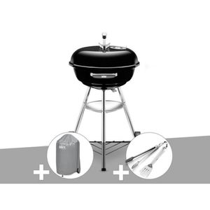 BARBECUE Barbecue Weber Compact Kettle 47 cm + Housse + Kit