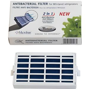 Autres 2x Antibac-air Filtre Pour Bauknecht Réfrigérateur Congélateur Ant002