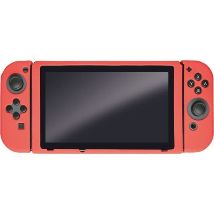 Housse de Protection corail en silicone Steelplay pour Switch