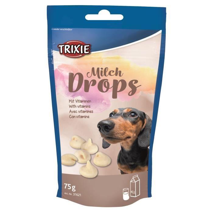 TRIXIE Pastilles Drops au lait - Pour chien - 75g