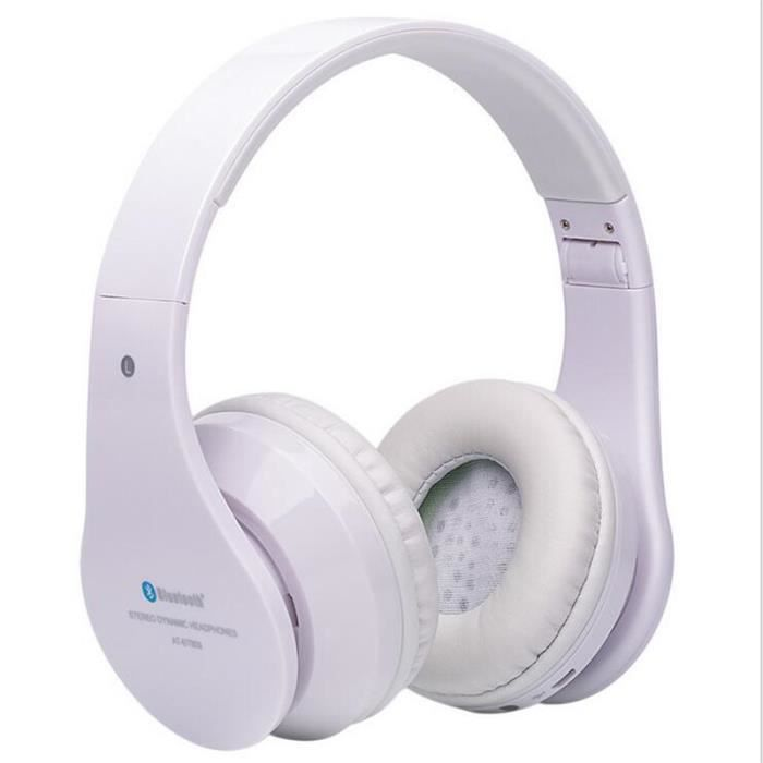 Ecouteur Bluetooth Sans Fil Nouvelle Mode Écouteur Sport Poids Léger Ecouteurs Intra-auriculaires Durable Blanc