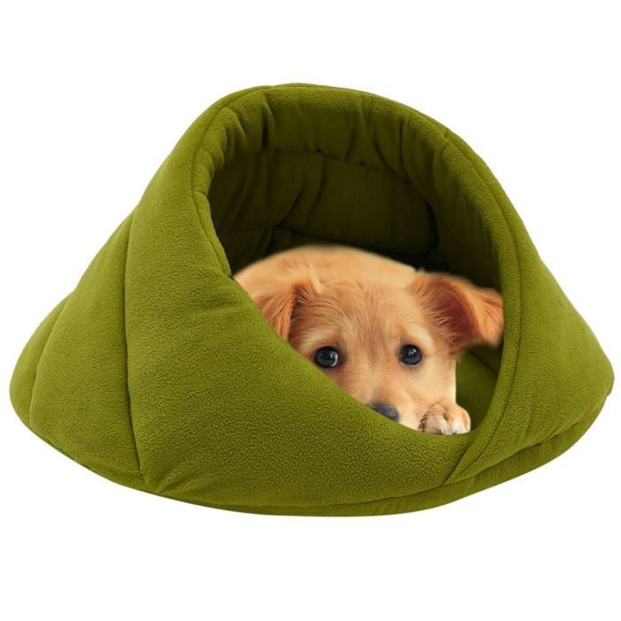 Toison Douce D'hiver Chaud Pet Dog Bed Petit Chien Chat Sac De Couchage Cave Puppy Lits Wo540