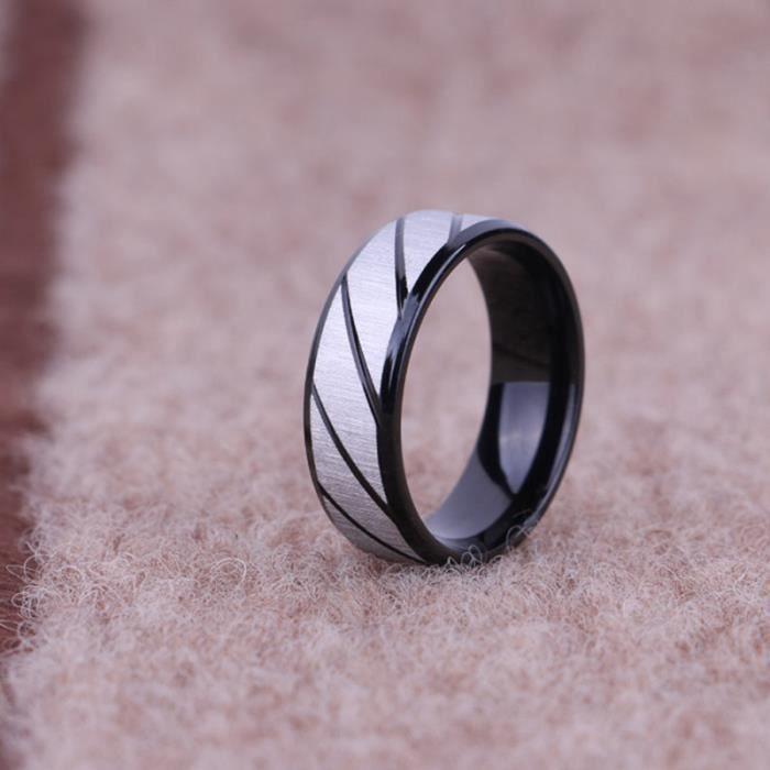 1 Pcs hommes en acier titane bague miroir polissage bijoux anniversaire fiançailles mariage promesse anneau