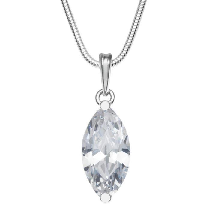 In Collections - 241a201695340 - Collier Avec Pendentif Femme - Argent Fin 925-1000 - Zirconium Z8P0R