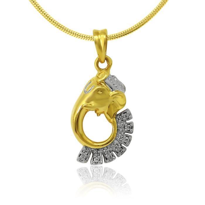 Femmes Or Cz élégant Ganesh plaqué Dieu Religieux & Pendentif pour Ps1101574g CJ33Z