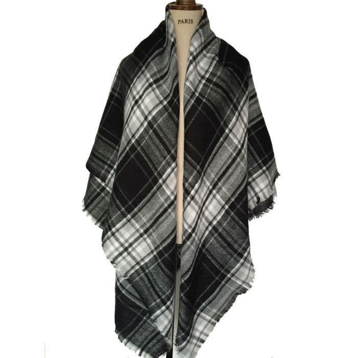 Femmes plaid écharpe frangée Femme laine Châle Cachemire - Achat ... da22cc968be6