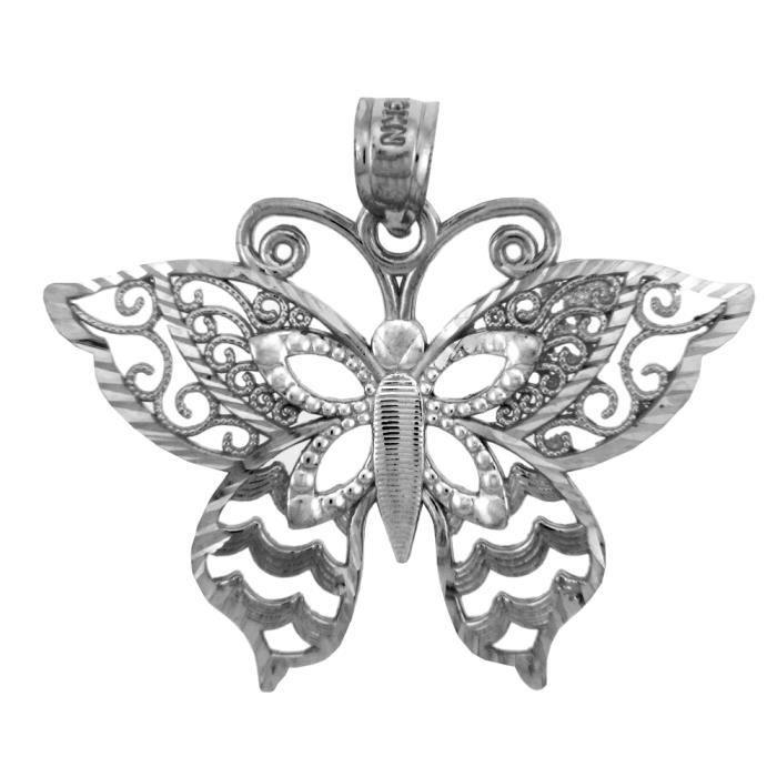 Collier PendentifArgent 925/1000 Motyl Papillon-Charm Collier Pendentif(vient avec une Chaîne de 45 cm)