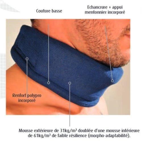 collier cervical minerve c2 tour de cou 40 45 cm h achat vente collier cervical collier. Black Bedroom Furniture Sets. Home Design Ideas