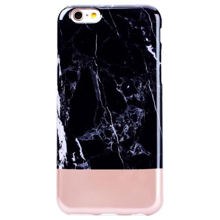 iphone 7 coque marbre noir