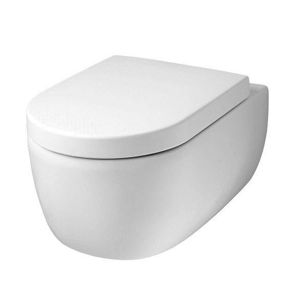 cuvette car n e suspendue contemporaine blanche achat vente cuvette wc seule 214004. Black Bedroom Furniture Sets. Home Design Ideas