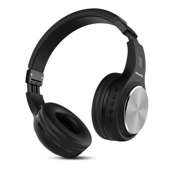 D'origine Awei Pliant Casque Sans Fil Bluetooth Écouteur Hifi Musique Pour Téléphone Iphone Xiaomi Huawei Écouteurs