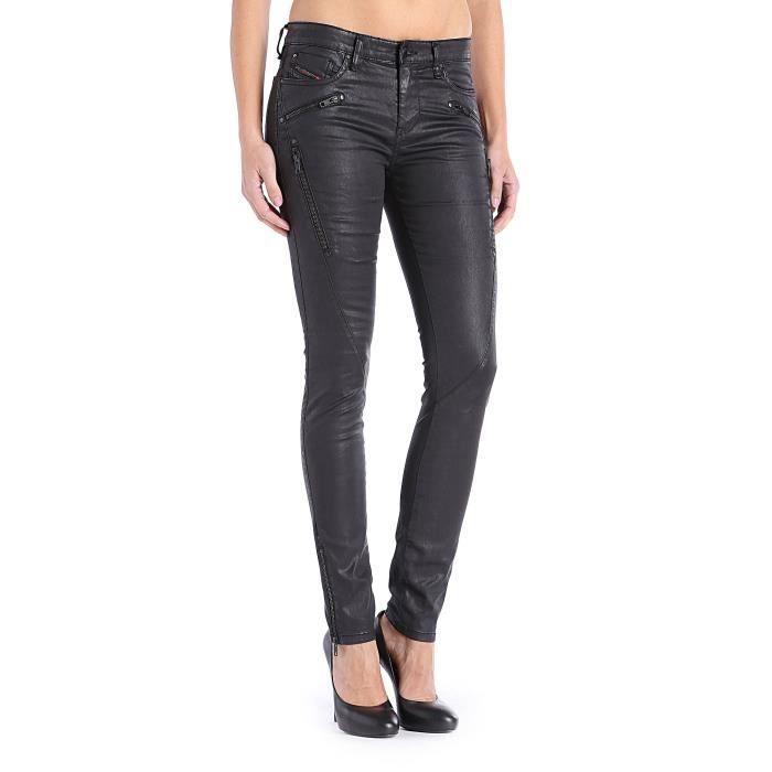 jean diesel femmes noir effet enduit noir noir achat vente jeans cdiscount. Black Bedroom Furniture Sets. Home Design Ideas