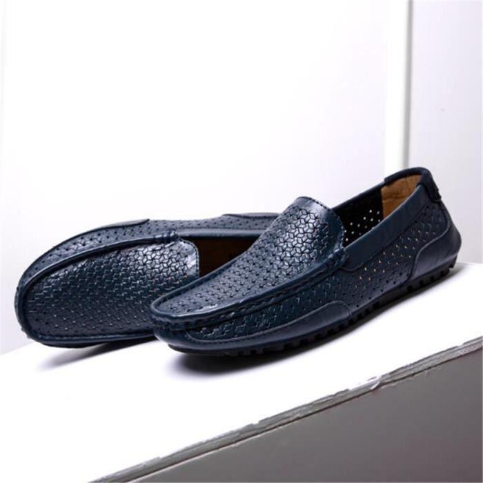 Hommes Loafers Marque De Luxe Nouvelle Mode Haut qualité Moccasin Homme Antidérapant Poids Léger Eau Chaussure 44 HPg7LnX