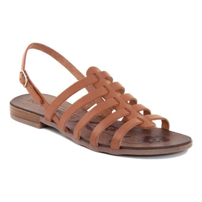 Sandales en cuir - camel