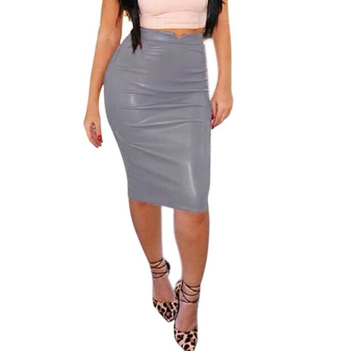 c364d11646054 ... Moulante Bodycon OL Crayon Skirt Clubwear. JUPE Minetom Femmes Sexy  Vintage Taille Haute Midi Jupe