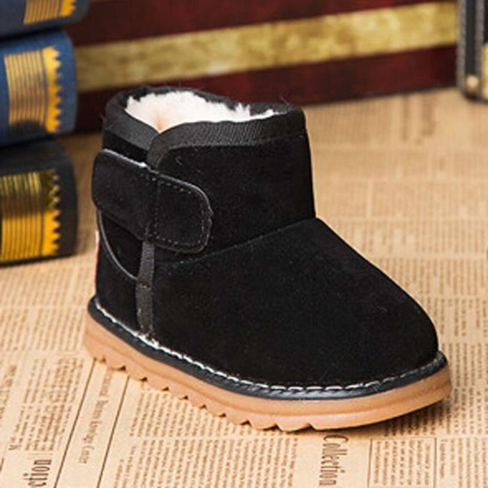 bb3ca4b3cc858 De Tout petit Bébé Garçons Enfant Chaussures Neige D hiver Filles Fourrures  Épais Bottes Pour 4B4SAxqwg