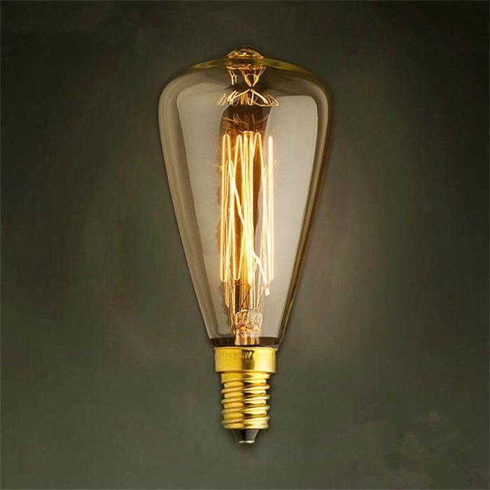 Filament Rétro 40w Edison Style Ampoules Industriel Clair St48 E14 S Tenoens® love348 RqWwanU4a
