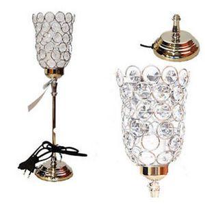 LAMPE A POSER  GRIS LAMPE DE TABLE SUR PIED METAL BAROQUE PAMPIL