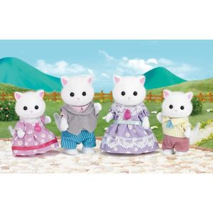 FIGURINE - PERSONNAGE SYLVANIAN FAMILIES 5216 Famille Chat Persan
