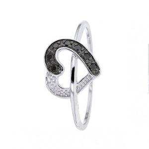 BAGUE - ANNEAU Bague Diamant noir Or:1.27 Gr Diamant:0.07 Ct