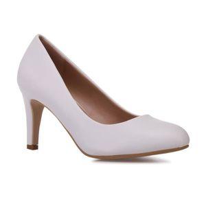 8dba7c1e95a79e Escarpin blanc talon 7 cm - Achat / Vente pas cher