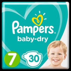 COUCHE Pampers Baby-Dry Taille 7, 15+ kg, 30 Couches