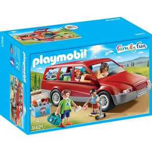 FIGURINE - PERSONNAGE PLAYMOBIL 9421 - Family Fun - Famille avec voiture