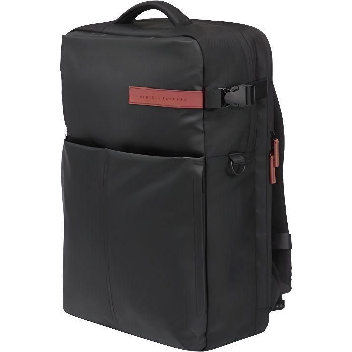 HP OMEN 17.3 Gaming Backpack Sac à dos Gamer - Etanche, Compatible Jusqu'à 17 Pouces, poches d'accessoires, Noir/Rouge