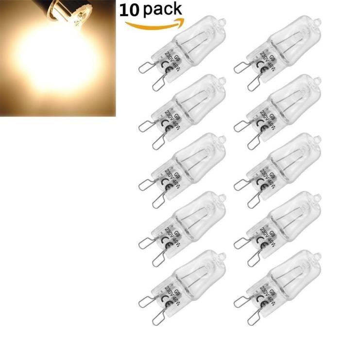 AMPOULE - LED Stars® 10 Pack Ampoule Filament G9 40W Globe Lampe