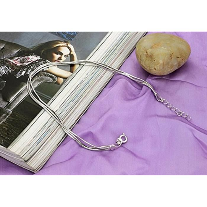 Bracelet De Cheville Élégant Lisse Et Fin Alliage ArgentéCadeau Fête Des Mères Anniversaire