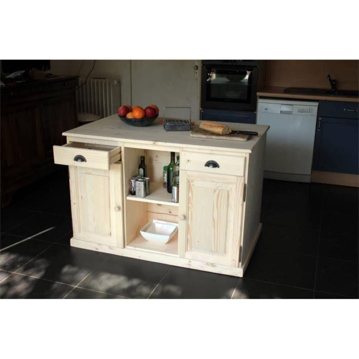 Ilot de cuisine double face 4 portes 4 tiroirs achat for Achat porte cuisine