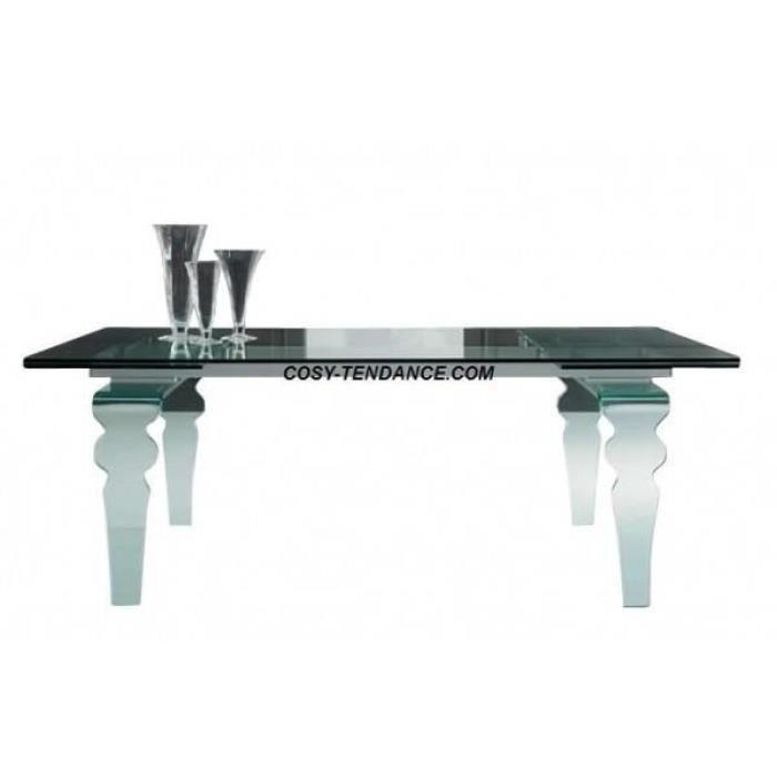 table verre cristal à rallonges 160/240*90*79 cm - achat / vente