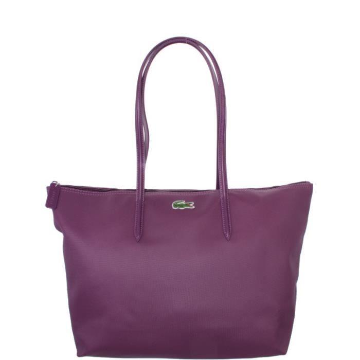 Achat 167 Sac Lacoste Épaule Porté Shopping Ref cem37430 Violet trQshdCx