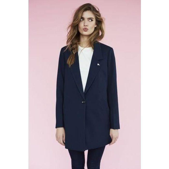 Blazer Femme Vero Moda Nikka 3 4 Jacket Bleu Marine Bleu Bleu marine ... 66778c1d810