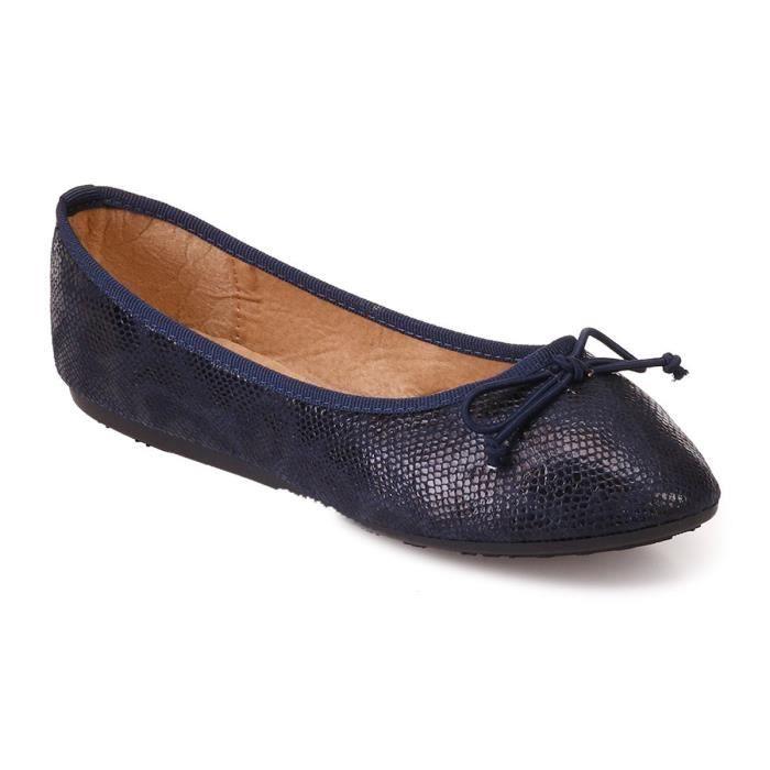 0bccfaf1604801 Ballerine bleue marine - Achat / Vente pas cher