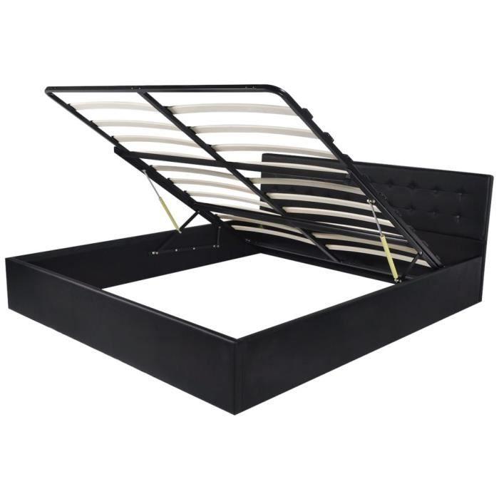 lit coffre 180x200 achat vente lit coffre 180x200 pas. Black Bedroom Furniture Sets. Home Design Ideas