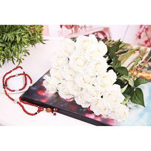 Rose blanche artificiel achat vente rose blanche for Soldes fleurs artificielles