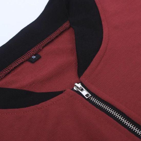 Femme Parka Outwear Slim Pour Cardigan nbsp;vin Long Veste Manteau xv0Ot
