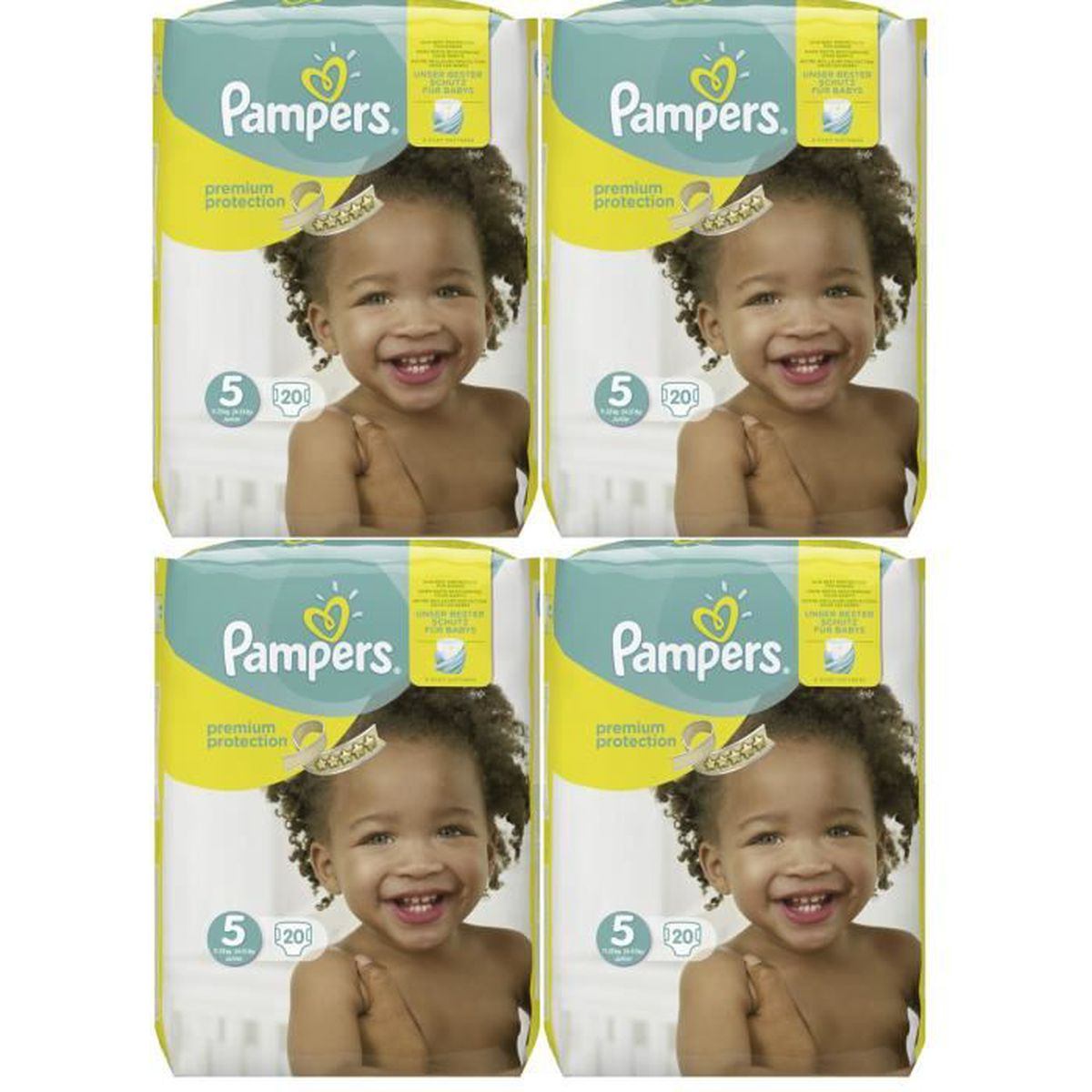 Pampers Premium Protection Taille 5 Junior 11 23kg 20 Couches Pack