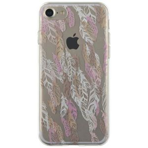 BIGBEN CONNECTED Coque Iphone 7 Plumes Gold - Transparentes
