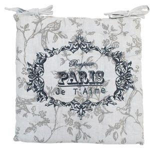 COUSSIN DE CHAISE  SOLEIL D'OCRE Galette de chaise capitonnée Paris