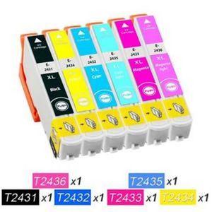 CARTOUCHE IMPRIMANTE 6 Cartouches compatible EPSON T2431-T2432-T2433-T2