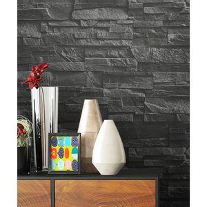 papier peint brique noir achat vente papier peint brique noir pas cher soldes d s le 10. Black Bedroom Furniture Sets. Home Design Ideas